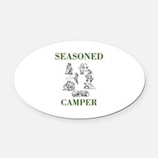 Seasoned Camper Oval Car Magnet