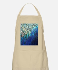 blue and green peacock feathers Apron