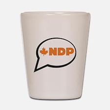Speak NDP Shot Glass