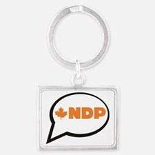 Speak NDP Landscape Keychain