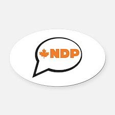 Speak NDP Oval Car Magnet