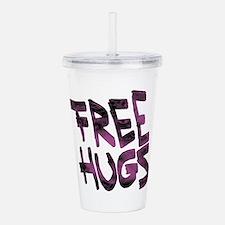 Free Hugs Acrylic Double-wall Tumbler