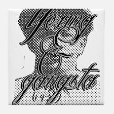 Young & Gangsta Tile Coaster