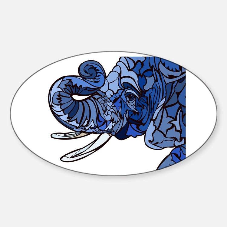 Cute Color image Sticker (Oval)