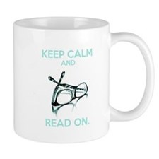 Keep Calm and Read On Glasses Mugs