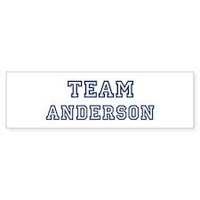 Team Anderson Bumper Car Sticker