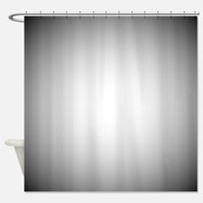 Black To White Radial Gradient Shower Curtain