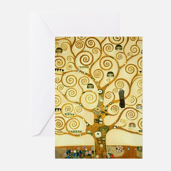 Gustav Klimt Tree Of Life Greeting Cards