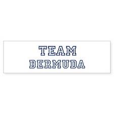 Team Bermuda Bumper Bumper Bumper Sticker