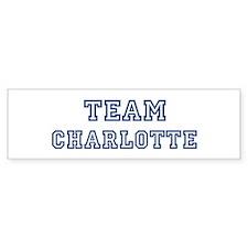 Team Charlotte Bumper Car Sticker