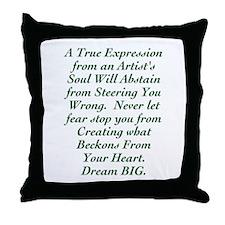 An Artist's Soul Throw Pillow