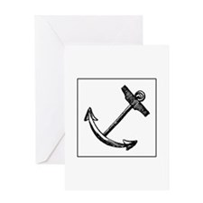 Vintage Sailor Anchor Greeting Card