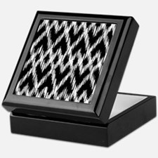 Ikat Pattern Black Keepsake Box