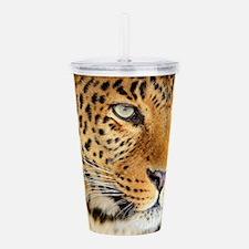 Leopard Portrait Acrylic Double-wall Tumbler