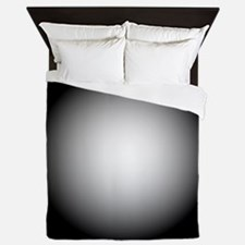 Black/White Radial Gradient Design Queen Duvet