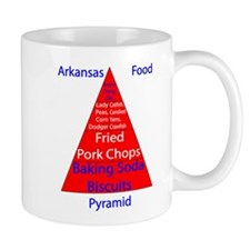 Arkansas Food Pyramid Mug