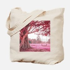 Pink Tree Swing Tote Bag