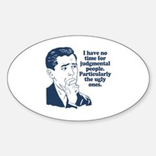 People Humor Sticker (Oval)
