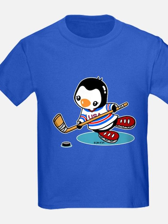 Ice Hockey Penguin T-Shirt