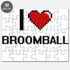 I Love Broomball Digital Design Puzzle