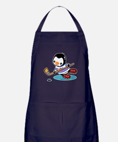 Ice Hockey Penguin Apron (dark)