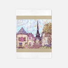 Paris Cityscape Inspired Landscape 5'x7'ar