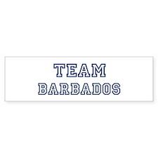 Team Barbados Bumper Bumper Bumper Sticker