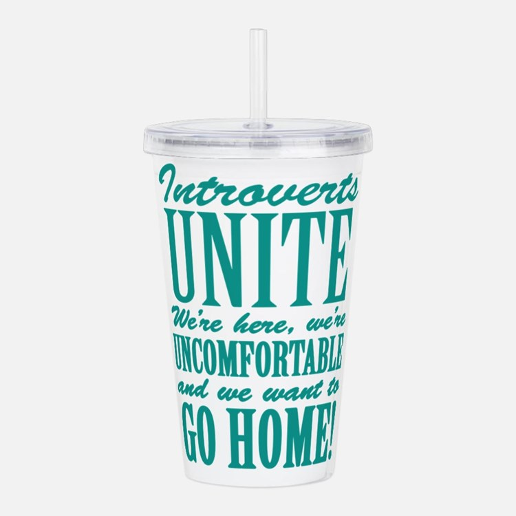 Introverts Unite Acrylic Double-wall Tumbler
