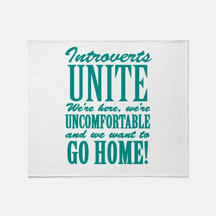 Introverts Unite Throw Blanket