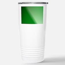 Green Gradient Linear Travel Mug