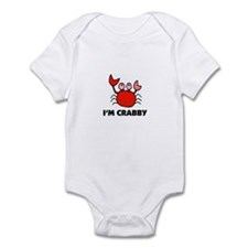 Crab Cartoon - I'm Crabby Infant Bodysuit