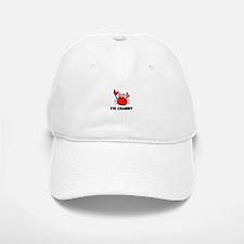 Crab Cartoon - I'm Crabby Baseball Baseball Cap