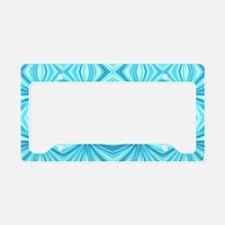 turquoise diamond geometric License Plate Holder