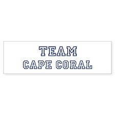 Team Cape Coral Bumper Bumper Bumper Sticker