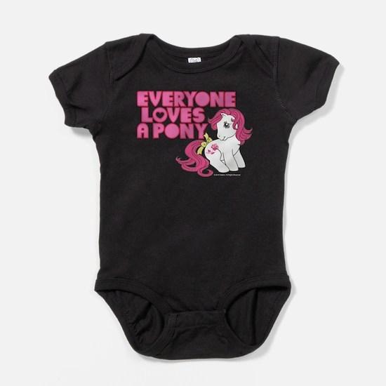 MLP Retro Everyone Loves A Pony Baby Bodysuit