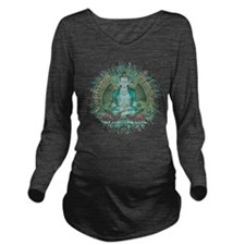 Cute Buddha Long Sleeve Maternity T-Shirt