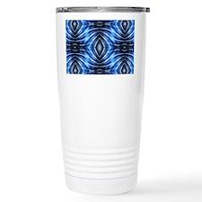 tribal pattern blue bat Travel Coffee Mug