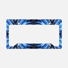 tribal pattern blue batik License Plate Holder