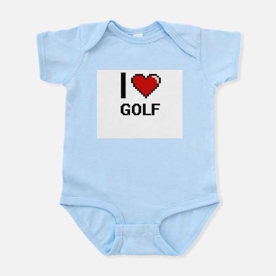 I Love Golf Digital Design Body Suit