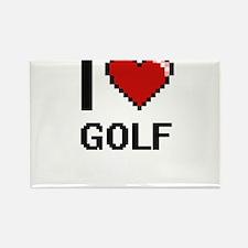 I Love Golf Digital Design Magnets
