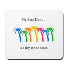 Best Day Rainbow Palm Trees Mousepad