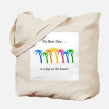 Best Day Rainbow Palm Trees Tote Bag