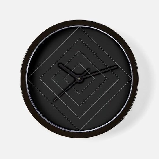 Black / Gray Diamond Design Wall Clock