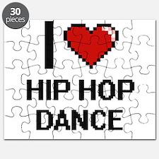 I Love Hip Hop Dance Digital Design Puzzle