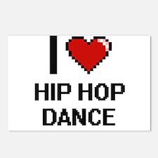 I Love Hip Hop Dance Digi Postcards (Package of 8)
