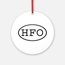 HFO Oval Ornament (Round)