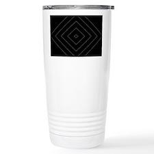 Black Gray Diamond Pattern Travel Mug
