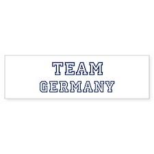 Team Germany Bumper Bumper Sticker