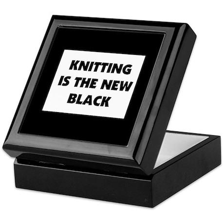 Knitting Is The New Black Keepsake Box