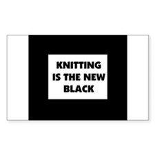 Knitting Is The New Black Rectangle Decal